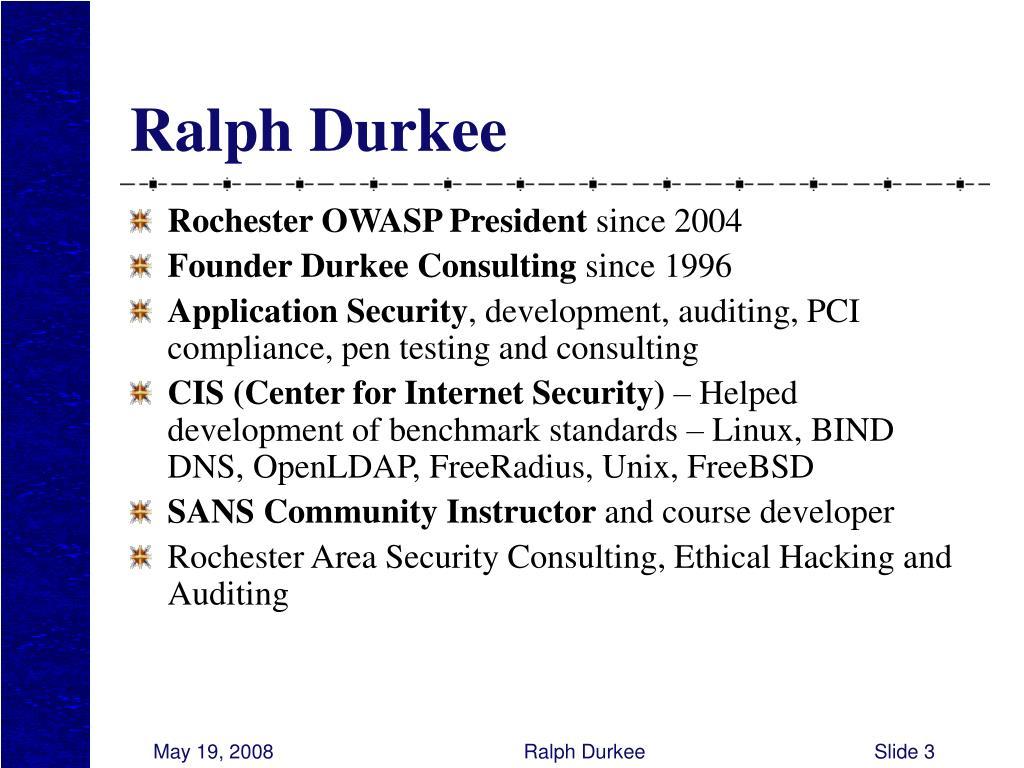Ralph Durkee
