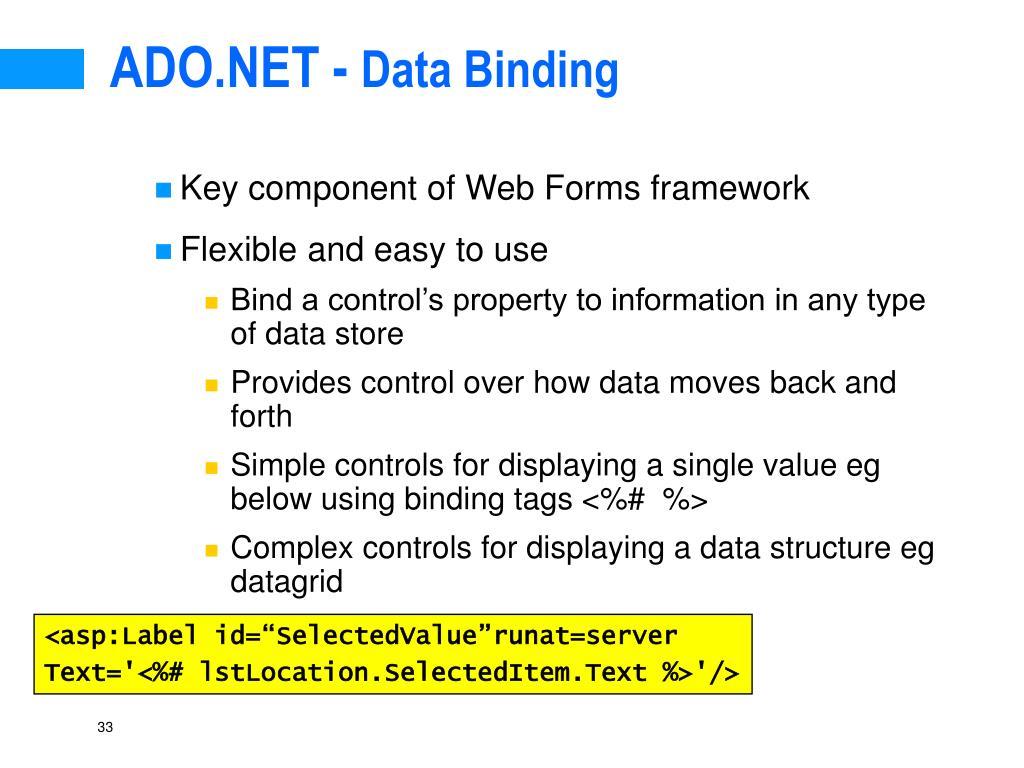 ADO.NET -