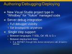 authoring debugging deploying