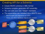 creating api for a schema