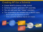 creating api for a schema97