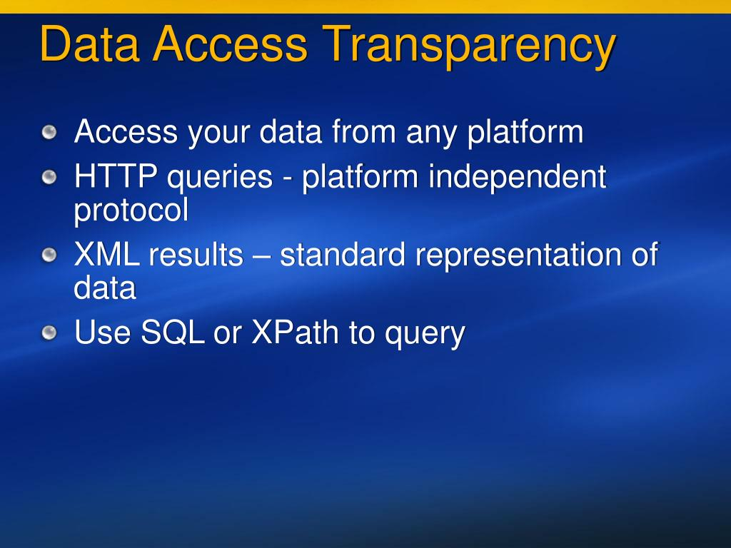 Data Access Transparency