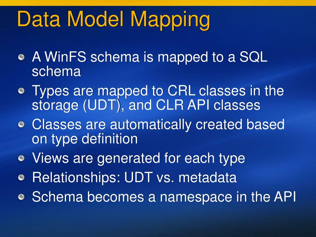 Data Model Mapping