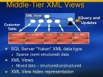 middle tier xml views