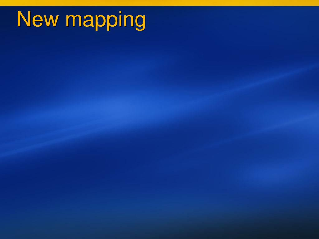 New mapping