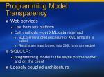 programming model transparency