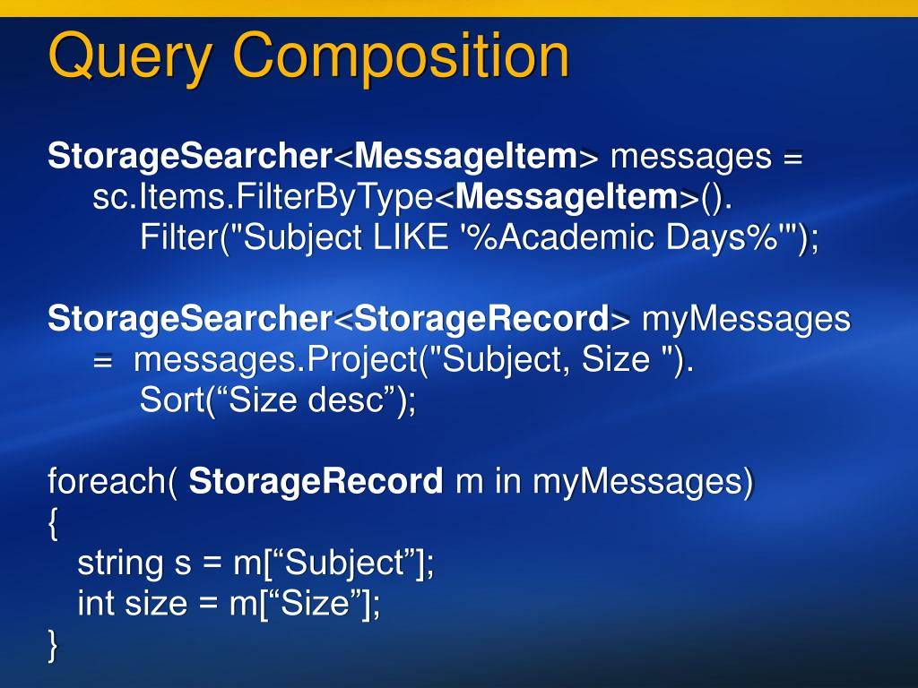 Query Composition