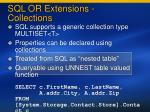 sql or extensions collections