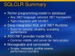 sqlclr summary