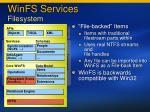 winfs services filesystem
