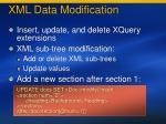 xml data modification