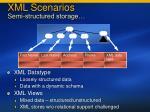 xml scenarios semi structured storage