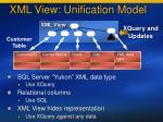xml view unification model