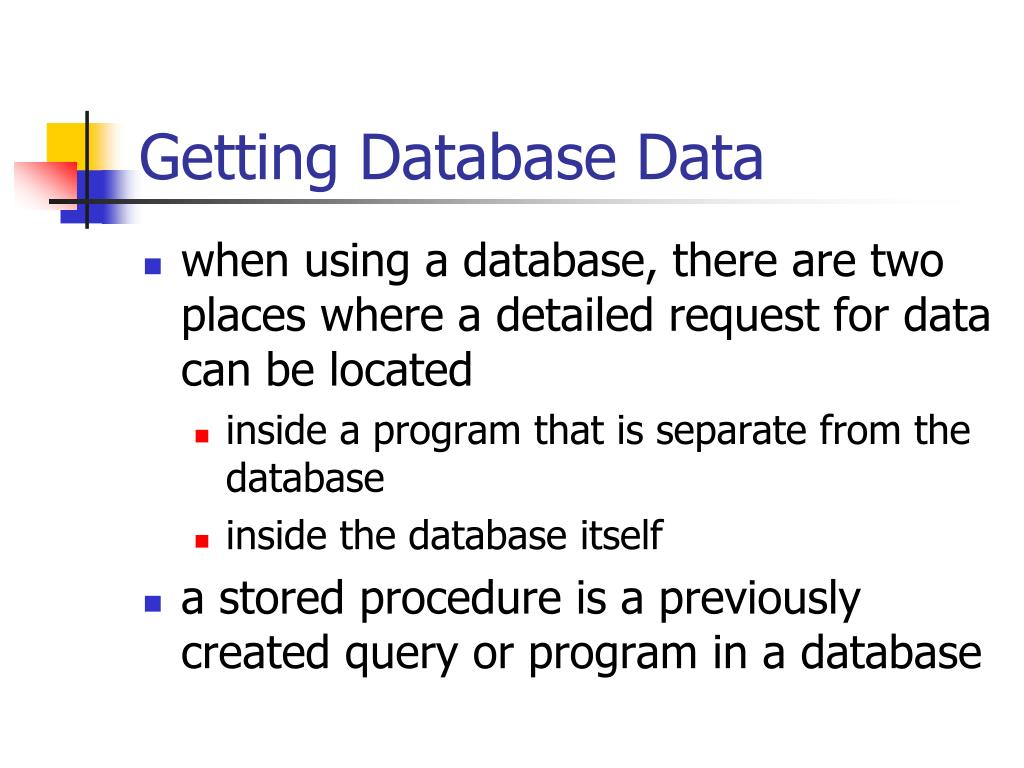 Getting Database Data