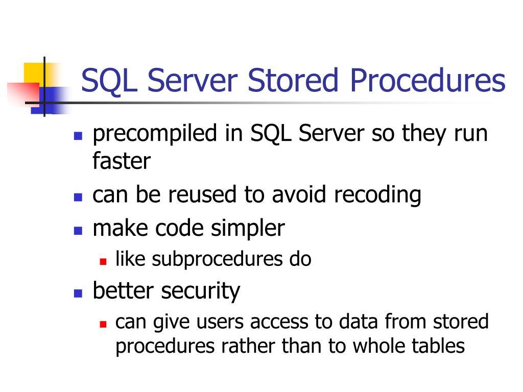 SQL Server Stored Procedures