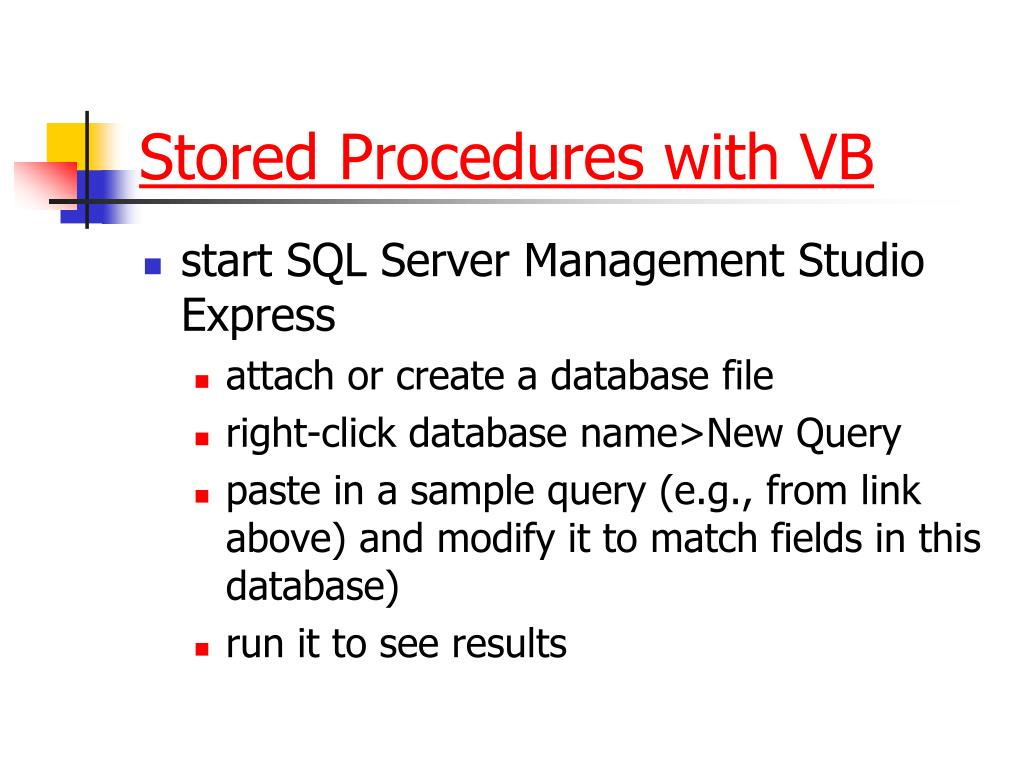 Stored Procedures with VB