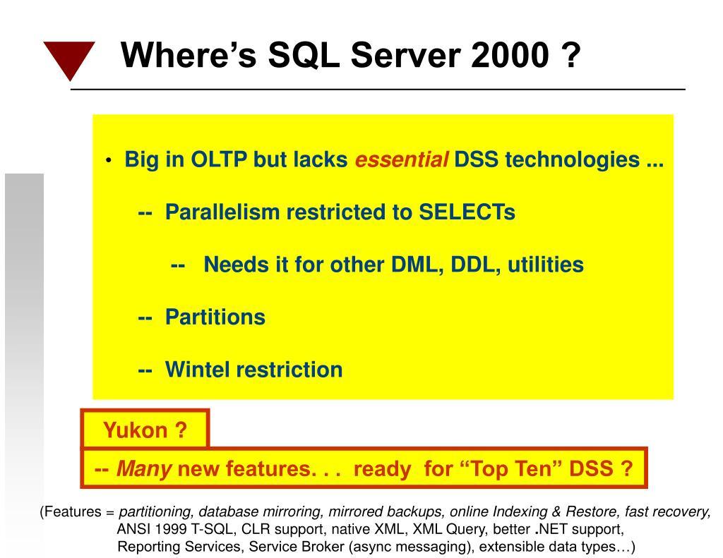 Where's SQL Server 2000 ?