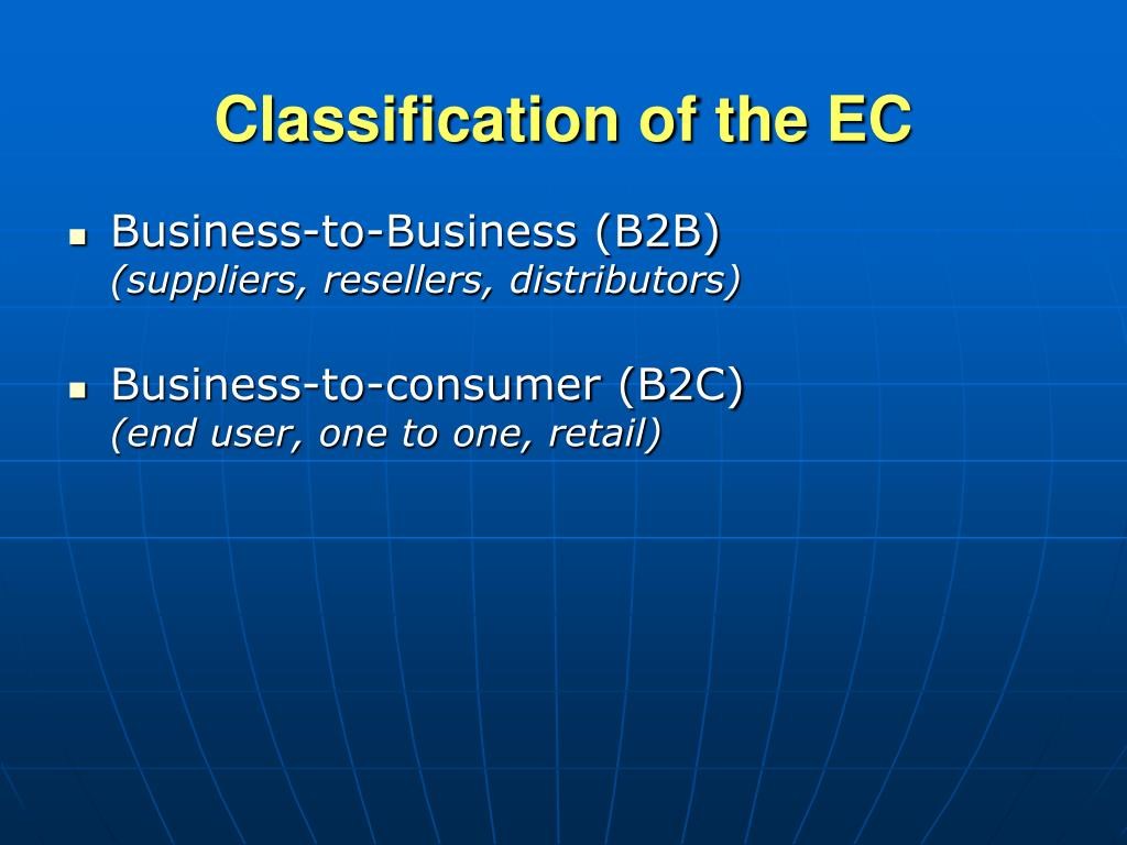Classification of the EC