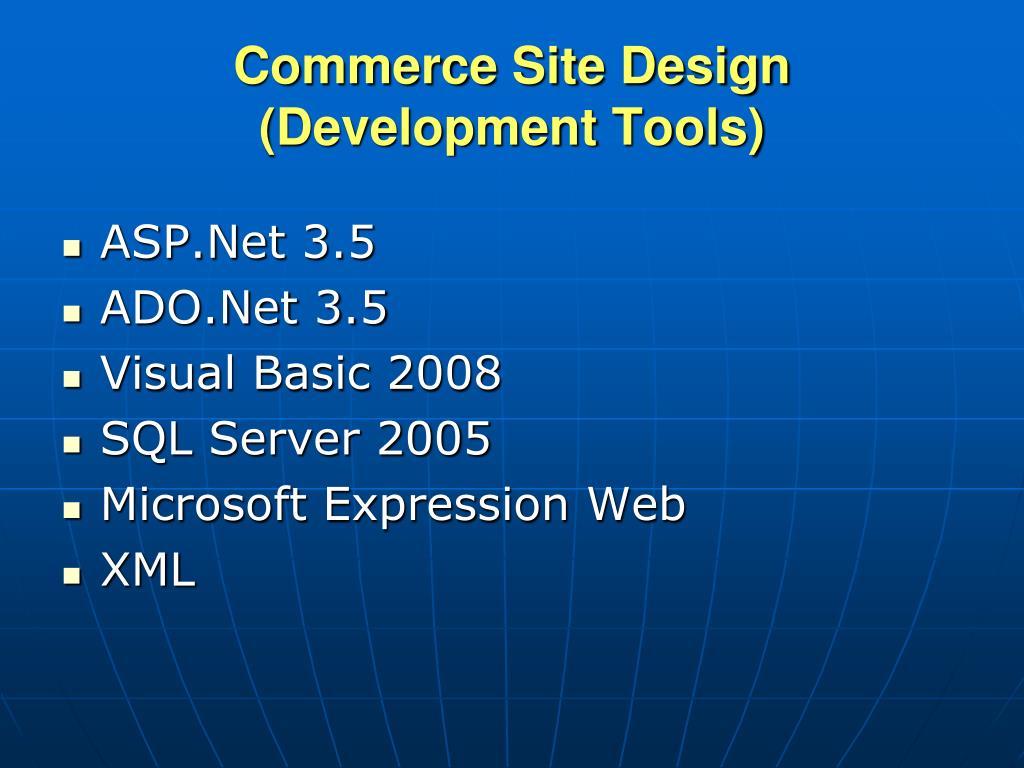 Commerce Site Design
