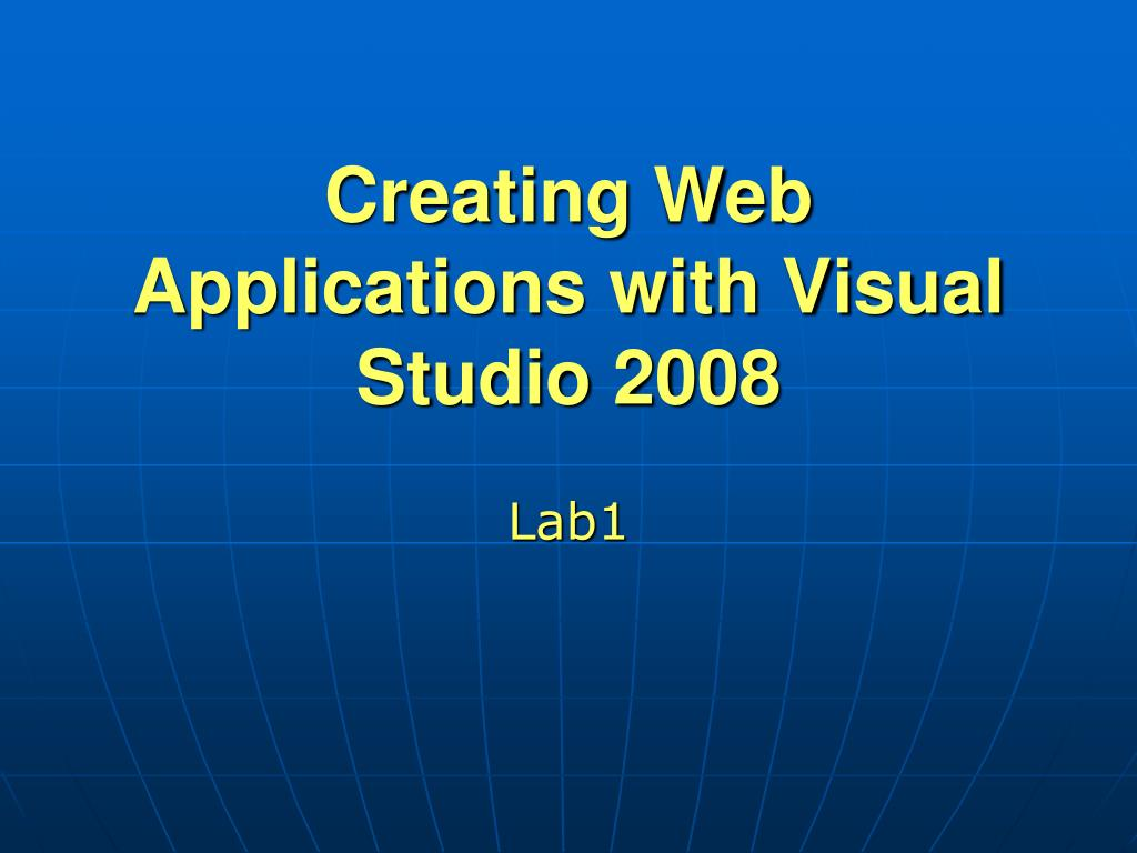 Creating Web Applications with Visual