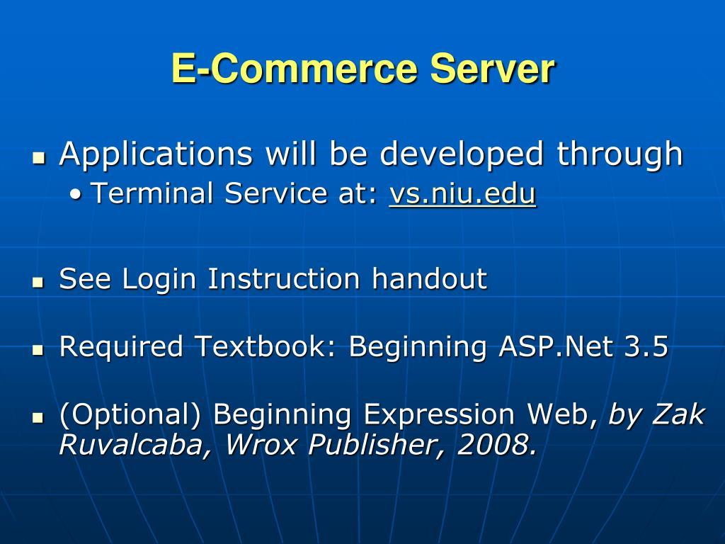 E-Commerce Server
