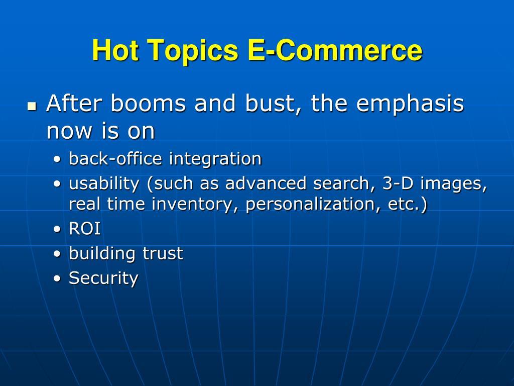 Hot Topics E-Commerce