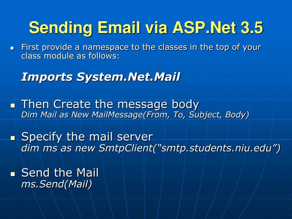 Sending Email via