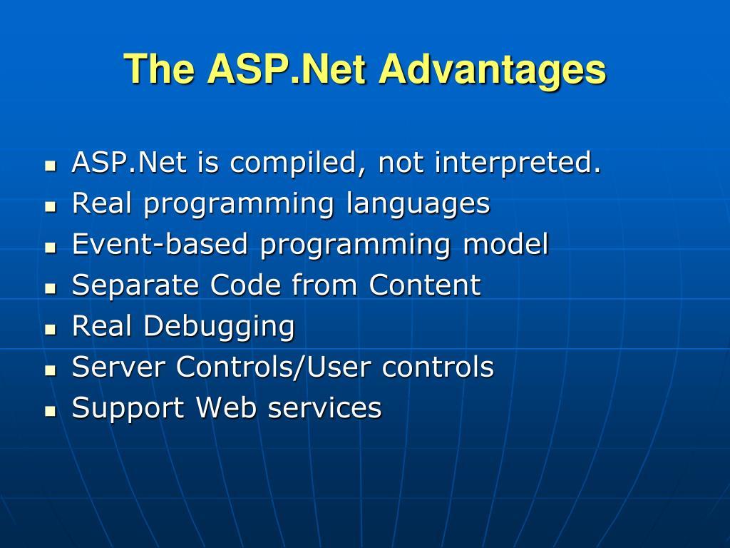 The ASP.Net Advantages