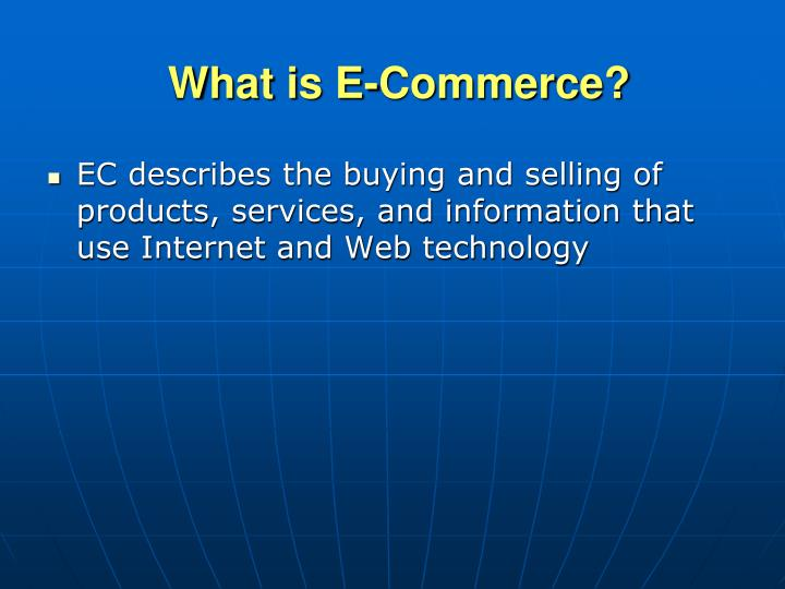 What is e commerce l.jpg