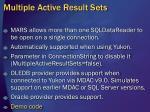 multiple active result sets