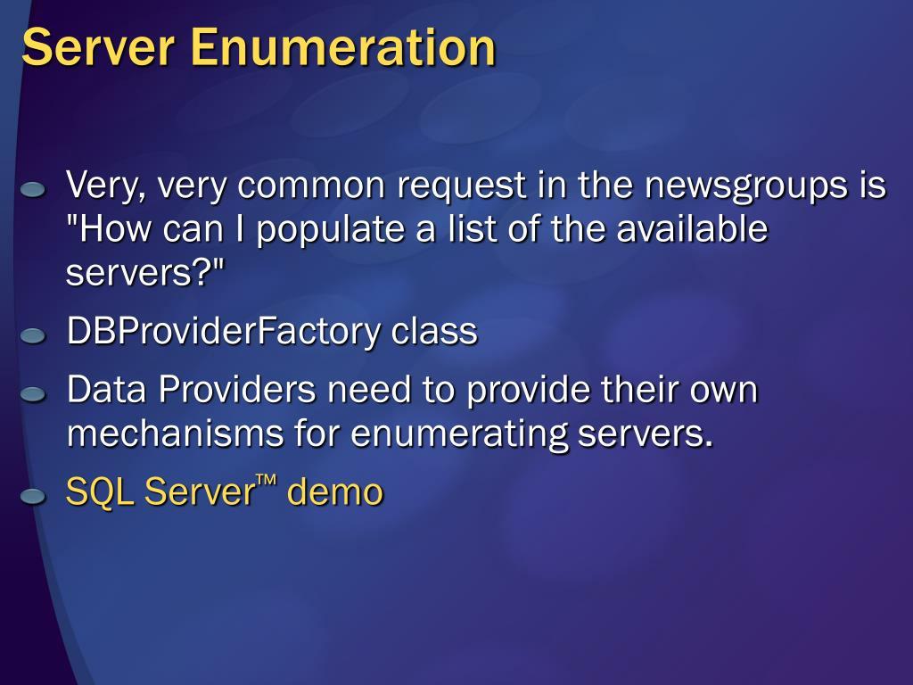 Server Enumeration