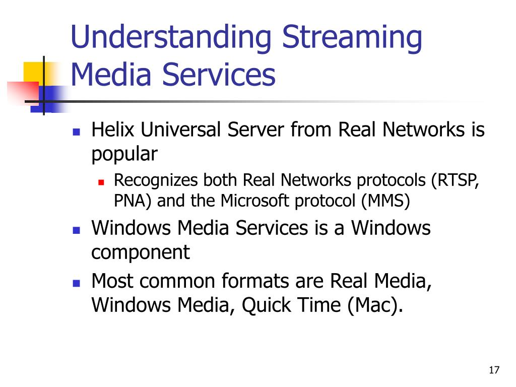 Understanding Streaming Media Services