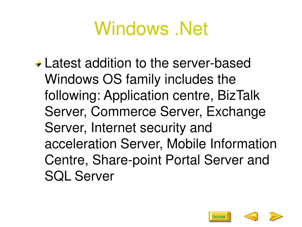 Windows .Net