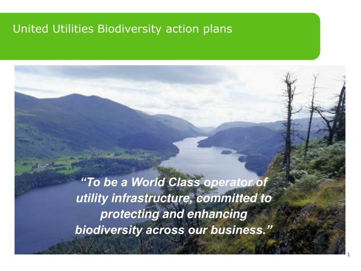 United Utilities Biodiversity action plans