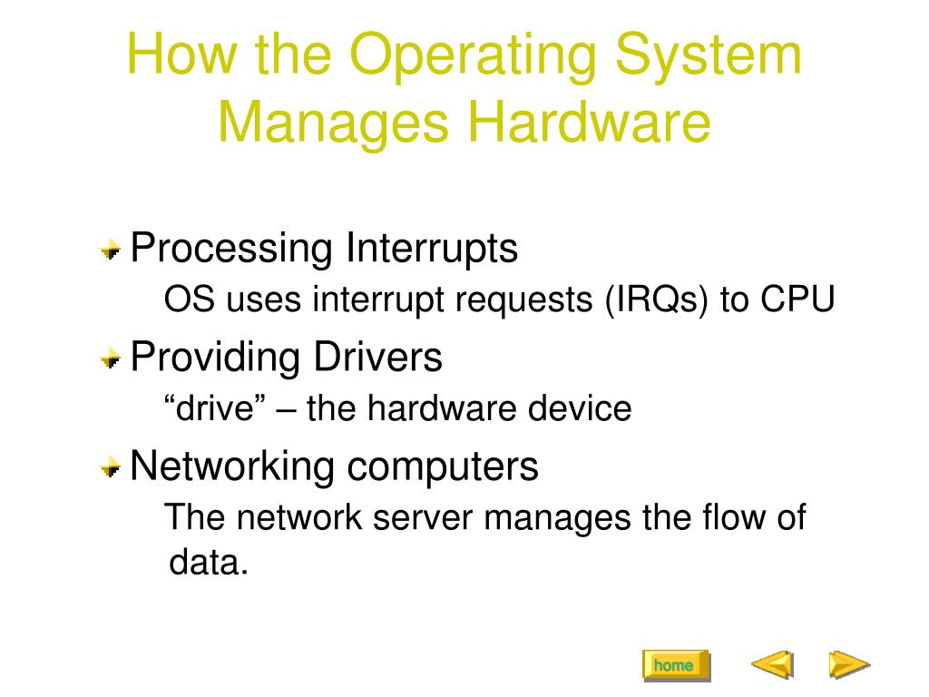 How the Operating System Manages Hardware
