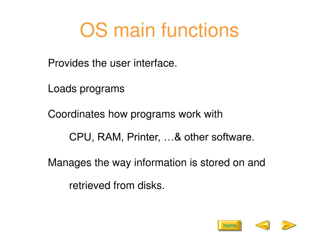 OS main functions
