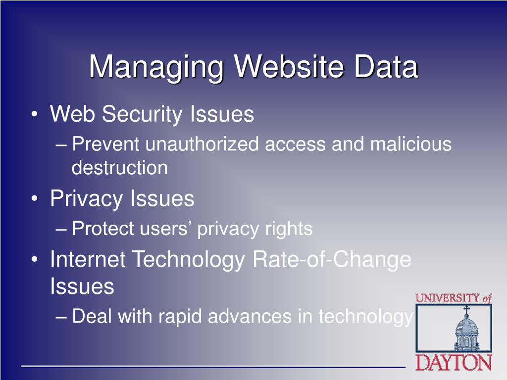 Managing Website Data
