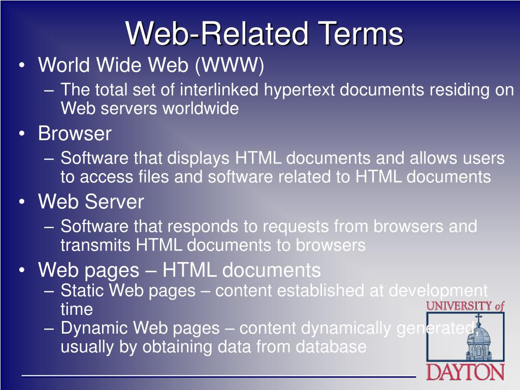 Web-Related Terms