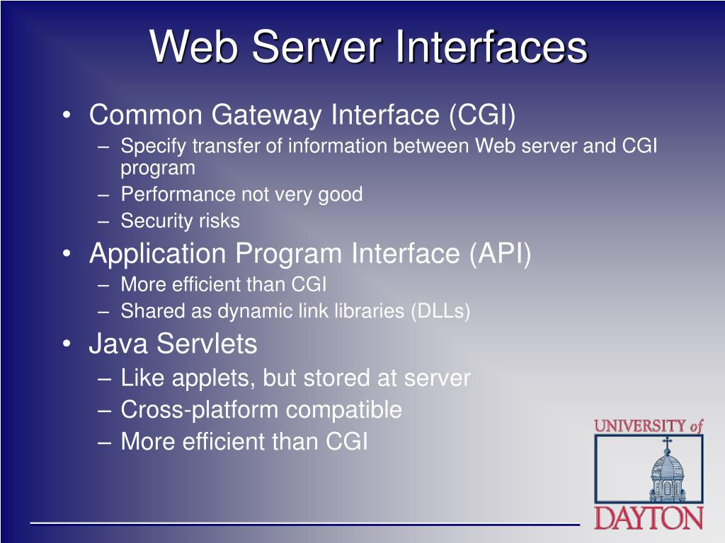 Web Server Interfaces