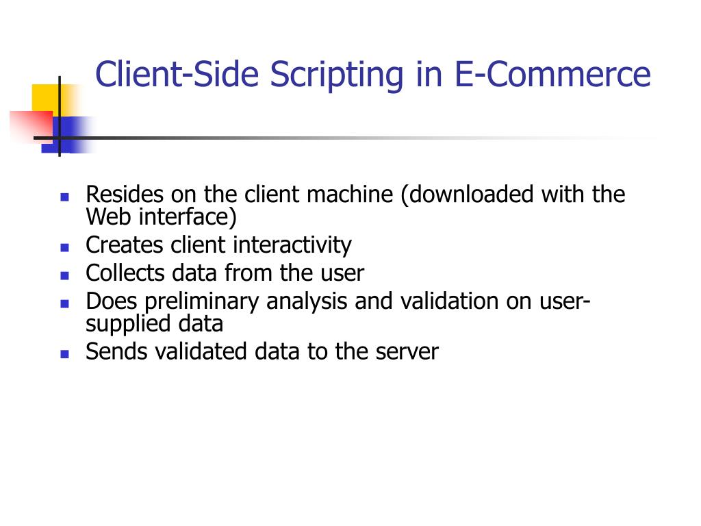 Client-Side Scripting in E-Commerce