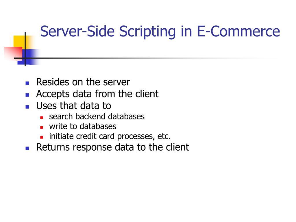 Server-Side Scripting in E-Commerce