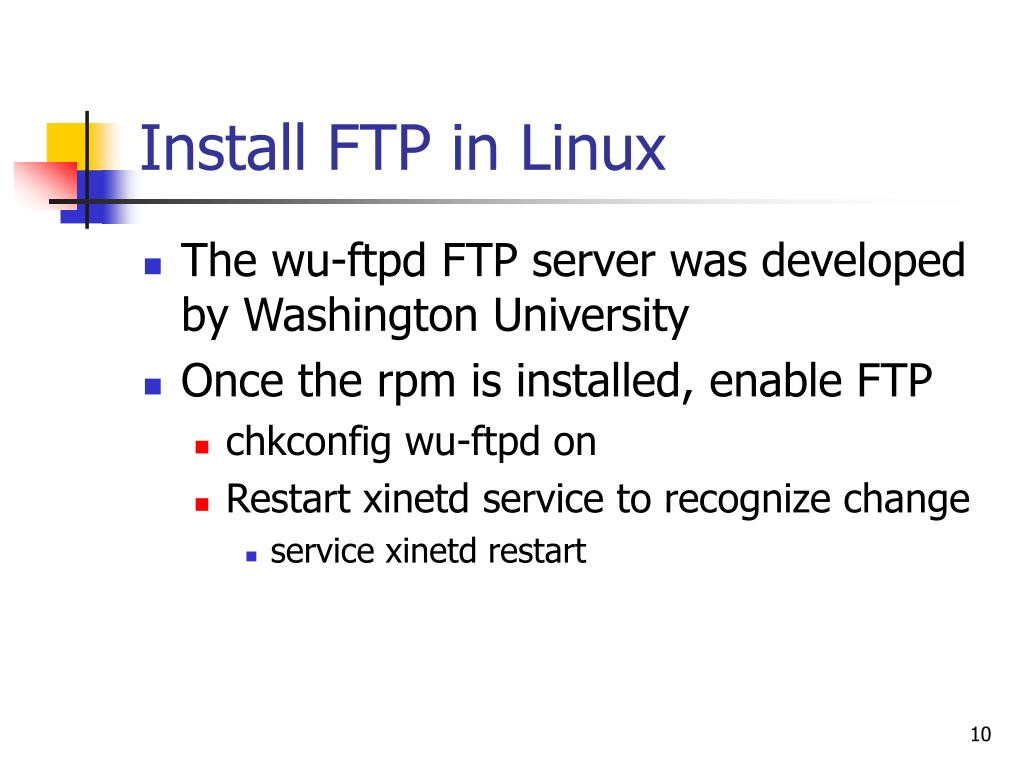 Install FTP in Linux