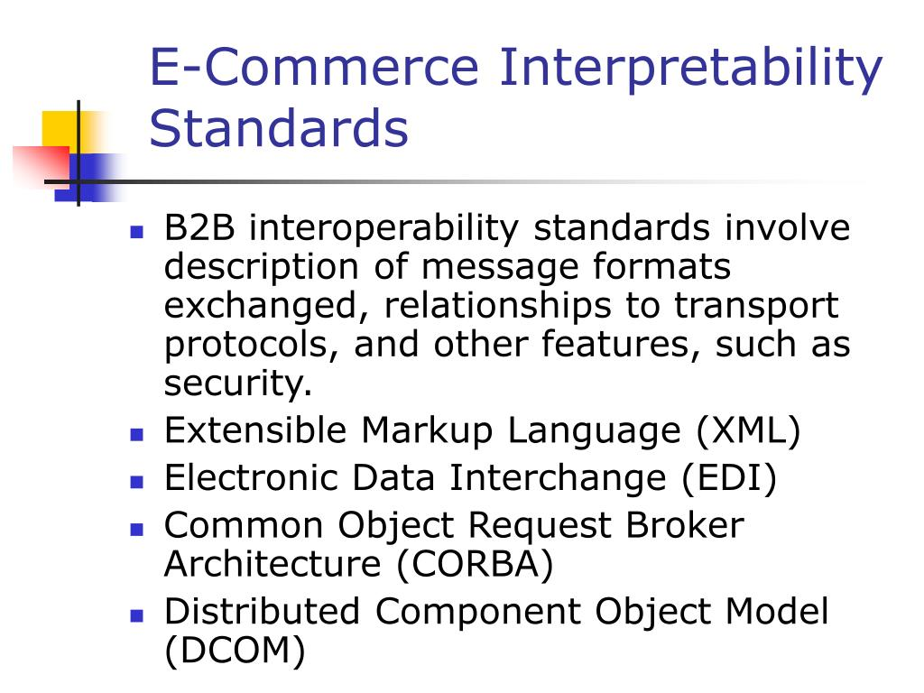 E-Commerce Interpretability Standards