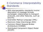 e commerce interpretability standards