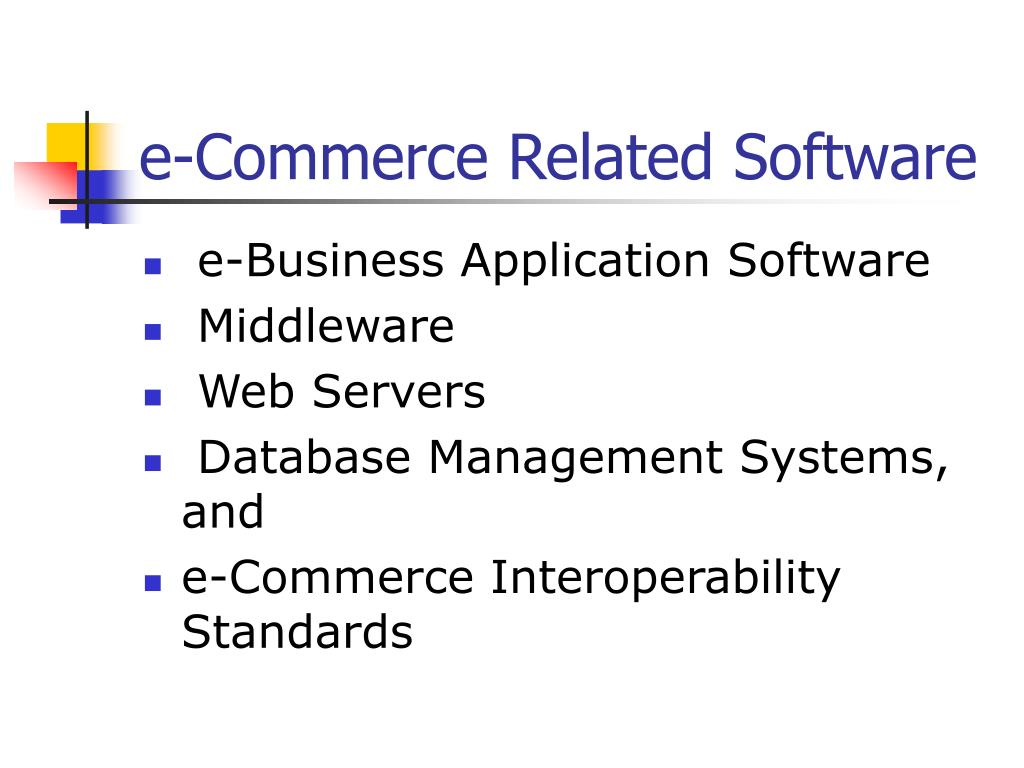 e-Commerce Related Software