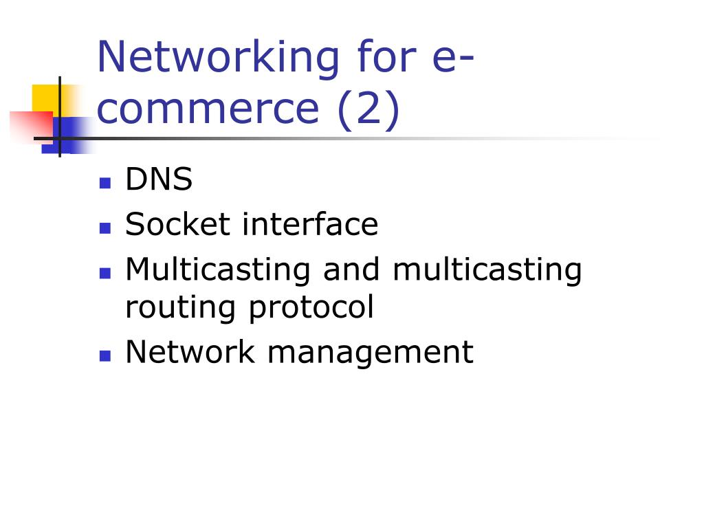 Networking for e-commerce (2)