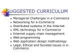 suggested curriculum