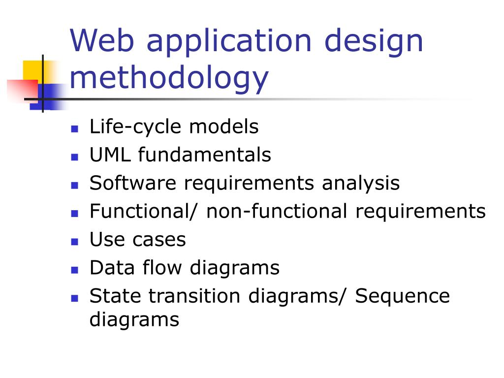 Web application design methodology