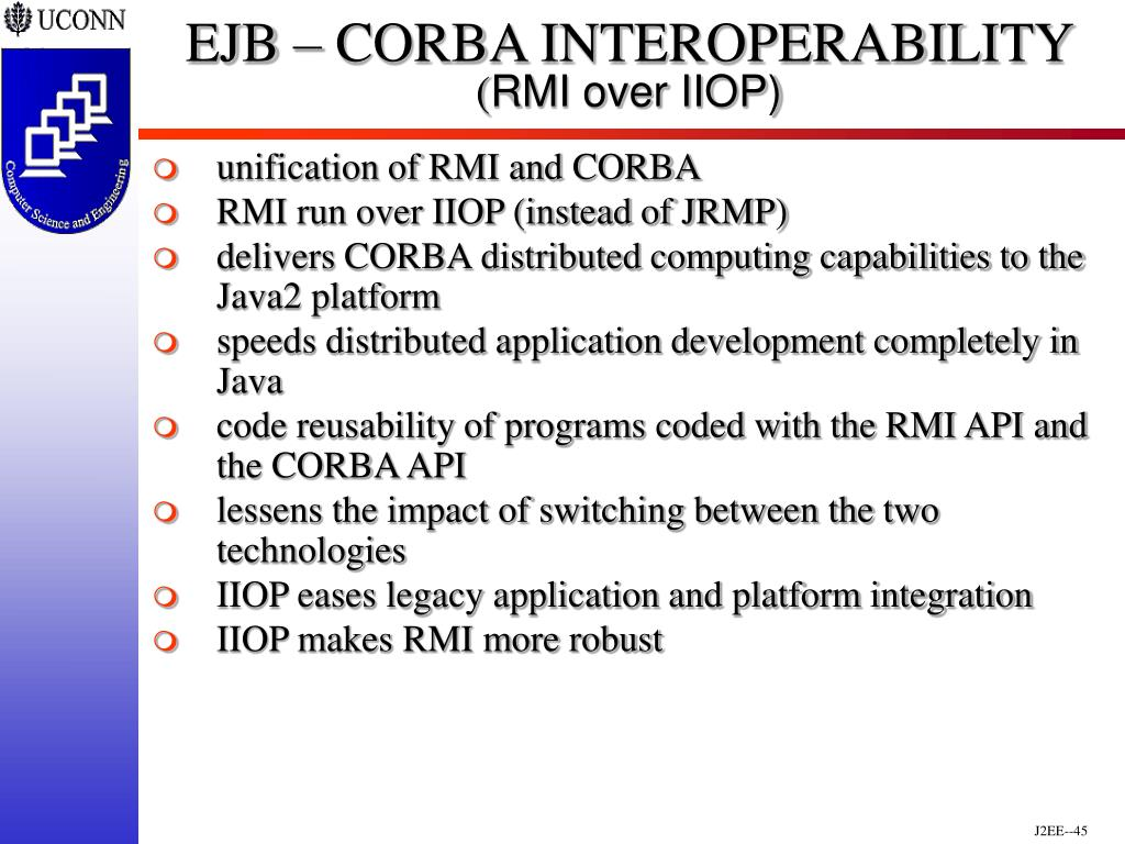 EJB – CORBA INTEROPERABILITY
