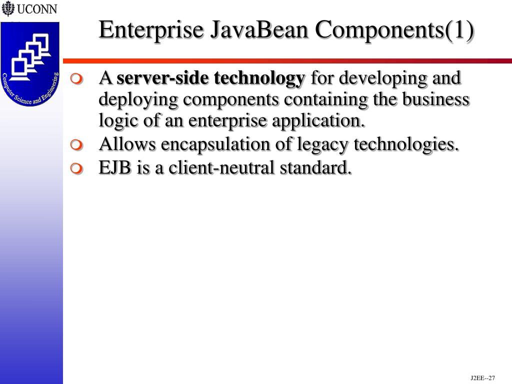 Enterprise JavaBean Components(1)